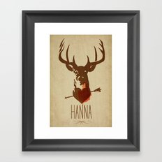 HANNA film tribute poster Framed Art Print