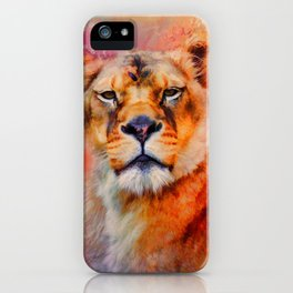 Colorful Expressions Lioness iPhone Case