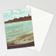 Swans in a lost fishing village Stationery Cards