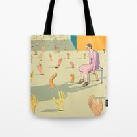 hands Tote Bags featuring Hands by Nahal