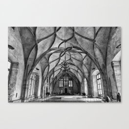 Prague Vladislav Hall Canvas Print