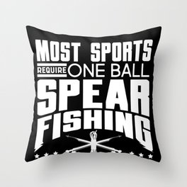 Fear the spear, Spearfishing , Fishing Throw Pillow