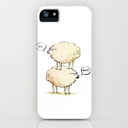 Dolly the Sheep (and Clone) iPhone Case