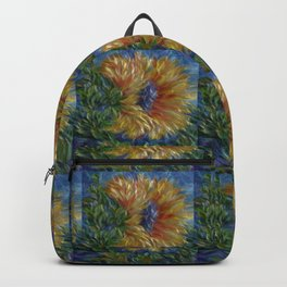 Sunflower  Decorative Painting by OLena Art Backpack