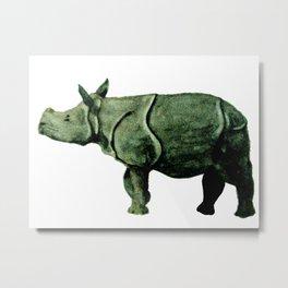 Rhinoceros Watercolor painting Metal Print