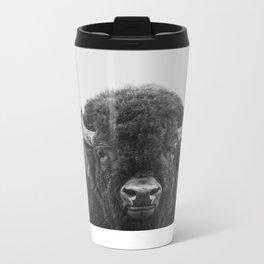 Buffalo Print, Bison Wall Art, Photography Print Metal Travel Mug