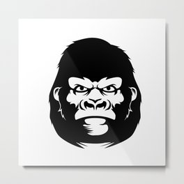 Gorilla face Metal Print