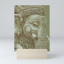 Ganesh green Mini Art Print