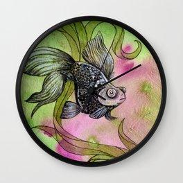 Moorfish on Green Wall Clock