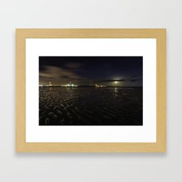 Sandymount Strand at Night Framed Art Print