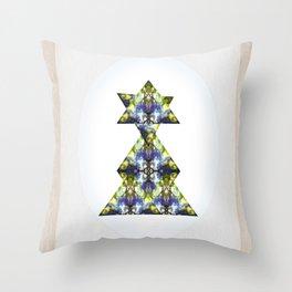 Symmetrical Triangle Creature Throw Pillow