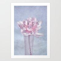 peony Art Prints featuring PEONY by VIAINA
