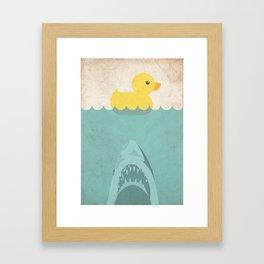 Jaws Rubber Duck Quack  Framed Art Print