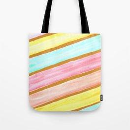 Retro Watercolor Stripes  Tote Bag