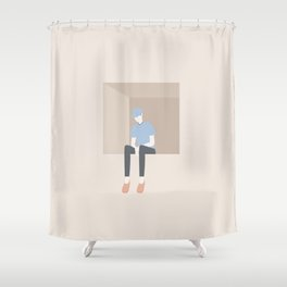 worry Shower Curtain