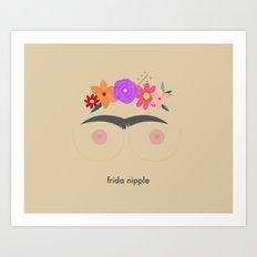 Frida Nipple Art Print