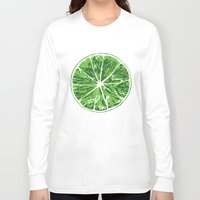 lime Long Sleeve T-shirts featuring Lime by Kcin
