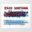 """BANNED BOOKS WEEK """"Read Something Dangerous"""" poster sign kit by tommykovac"""