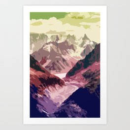 Mountain River #illustration #society6 Art Print