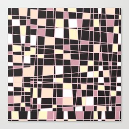 abstract background tile vitrage illustration geometric decorative mosaic art pattern Canvas Print