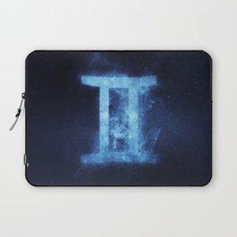 Gemini Zodiac Sign. Abstract night sky. Laptop Sleeve