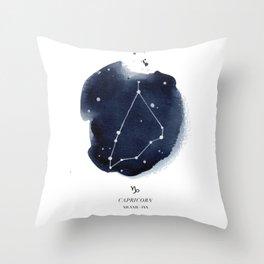 Zodiac Star Constellation - Capricorn Throw Pillow