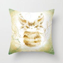 Ghostkitten Throw Pillow