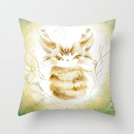 Ghostkitten Throw Pillow