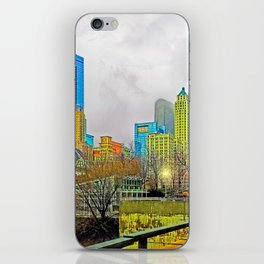 Windy City Cloudy Day iPhone Skin