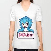 dmmd V-neck T-shirts featuring iiyo by CLUB GALAXY