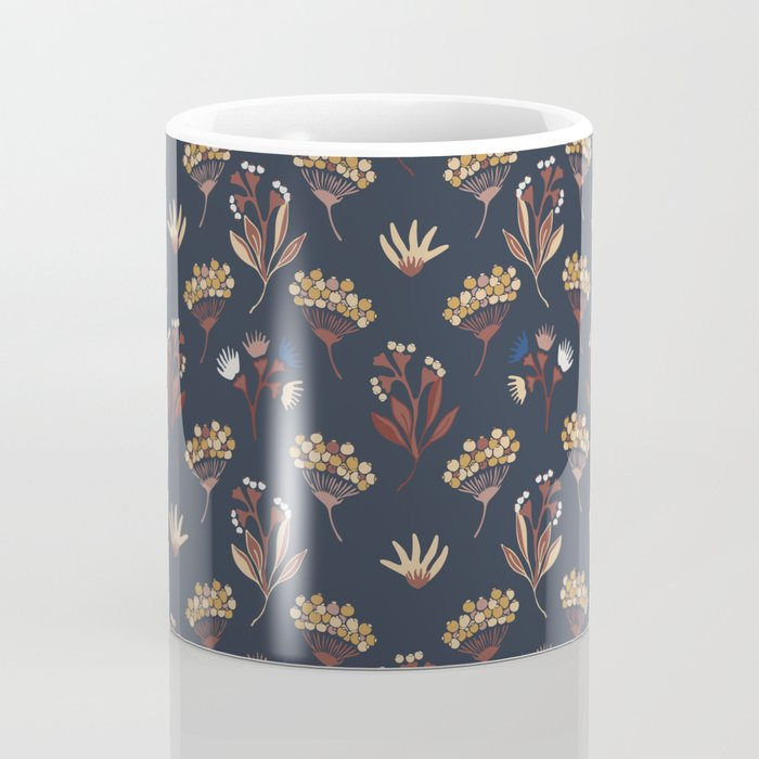 Navy Blue Seed Pods Coffee Mug