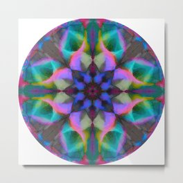 Mandala of Strength, Resilience, Action Metal Print