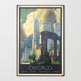Chicago - Vintage Poster Canvas Print
