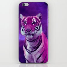 Purple Tiger and Sky iPhone & iPod Skin
