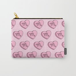 Scorpio Candy Hearts Carry-All Pouch