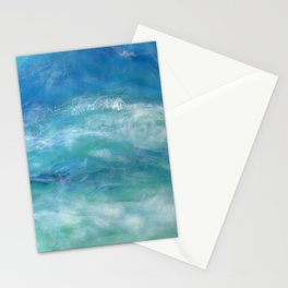 Sea Splash Abstract Acrylic Stationery Cards