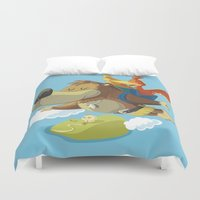 banjo Duvet Covers featuring Banjo by Rod Perich