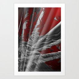 Liquid Silver Art Print