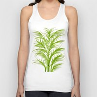 lime Tank Tops featuring Lime Palms by Cat Coquillette