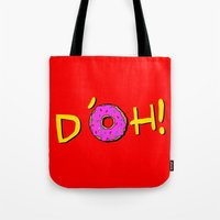 simpsons Tote Bags featuring The Simpsons: D´oh! by dutyfreak