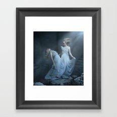Upon the eternal sleep Framed Art Print