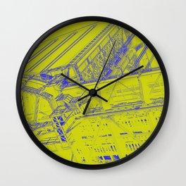 Manhattan Bridge - Green Wall Clock