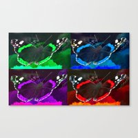 psychadelic Canvas Prints featuring PSYCHADELIC BUTTERFLIES by CAPTURING THE MOMENT