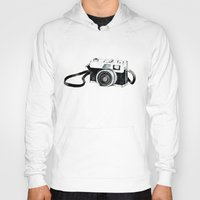 vintage camera Hoodies featuring Vintage camera  by Bridget Davidson