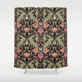 Spring Pattern with Poppy Flowers and Gladioli II Shower Curtain