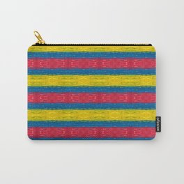 Red Yellow Blue Pattern Carry-All Pouch