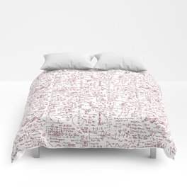 Physics Equations in Red Pen Comforters