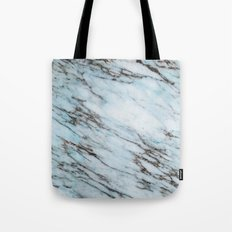 Marble Pattern - Aqua and Black Marble Crackle Tote Bag