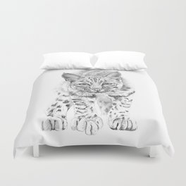 On the Prowl :: A Young Bobcat Duvet Cover