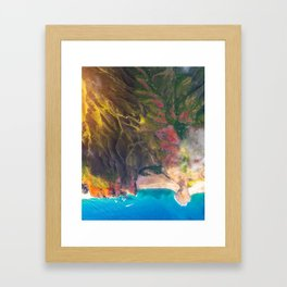 Sunset On The Beautiful Na Pali Coast Framed Art Print